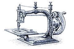 Traditionelle Nähmaschine Abbildung