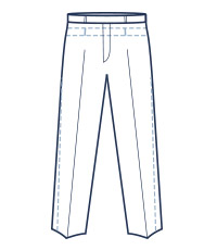 Classic trouser fit illustration