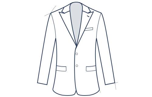 Peak lapel slim fit suit jacket