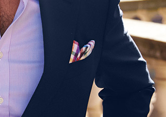 How to fold the reverse puff pocket square