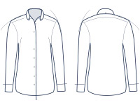 Women's semi-fitted shirt illustration