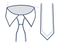Classic tie fit illustration