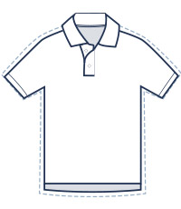 Slim fit polo illustration