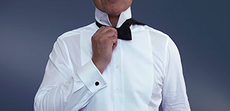 How to tie a bow tie step 3