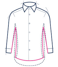 Slim fit shirt illustration