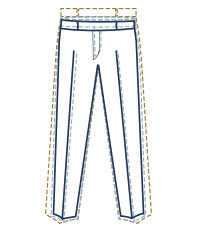 Extra slim trouser fit illustration