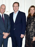 David Cameron wears Charles Tyrwhitt at the London Collections for Men fashion party.