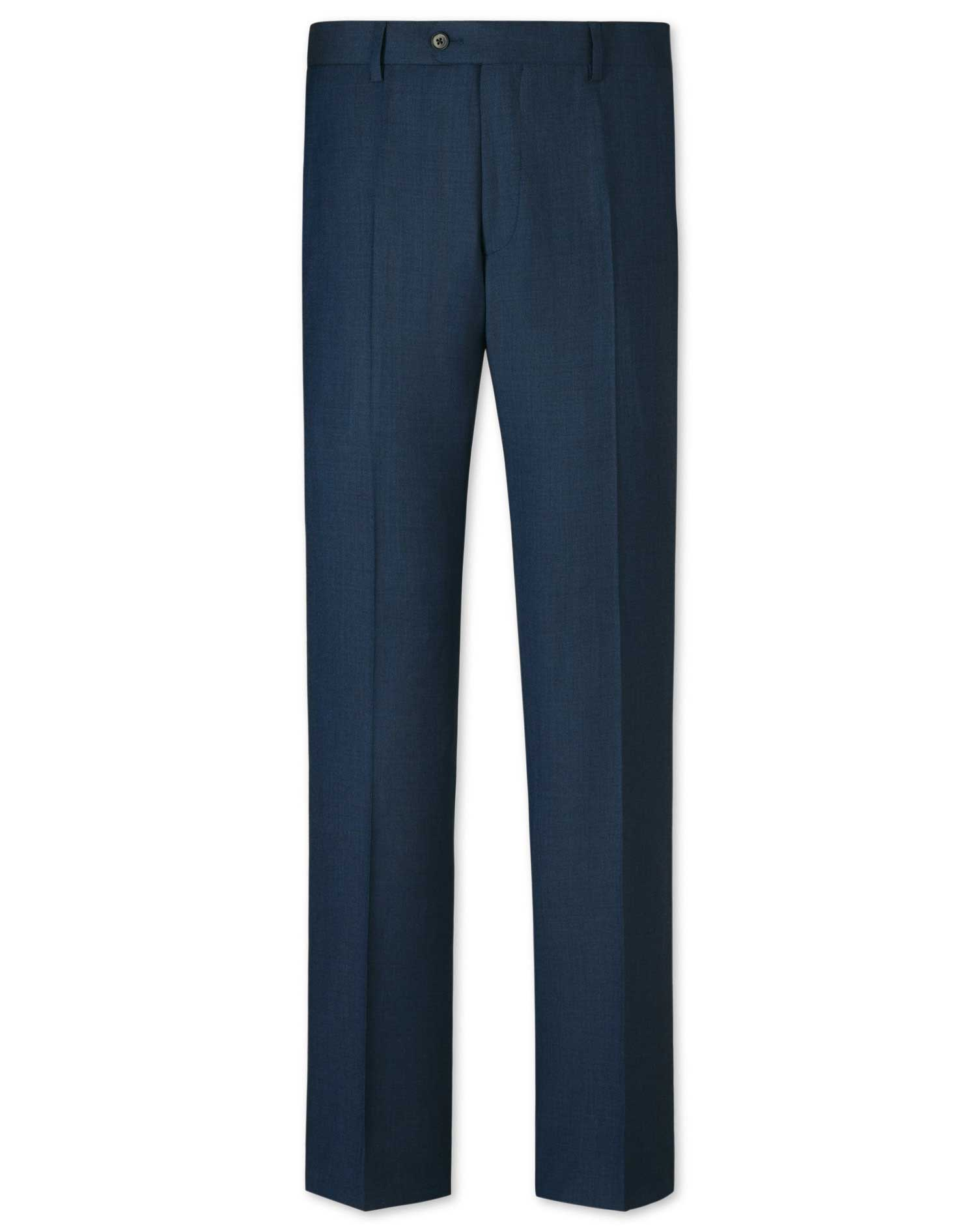 Ink Classic Fit Sharkskin Business Suit Trousers Size W32 L32 by Charles Tyrwhitt