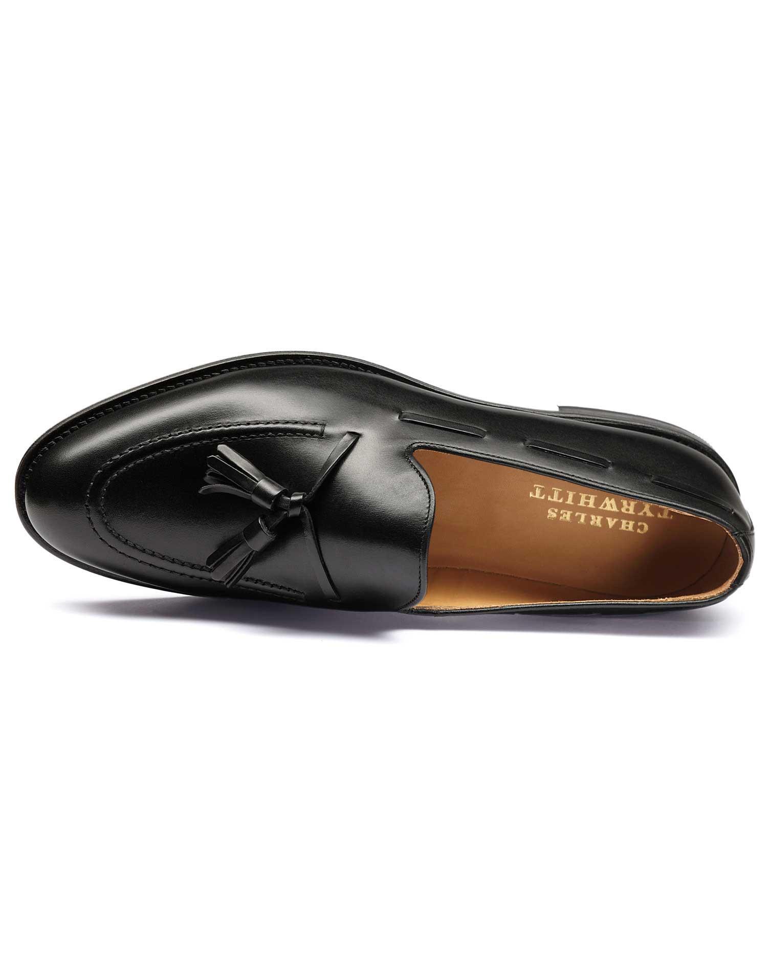 Black Keybridge Tassel Loafers Size 13 R by Charles Tyrwhitt