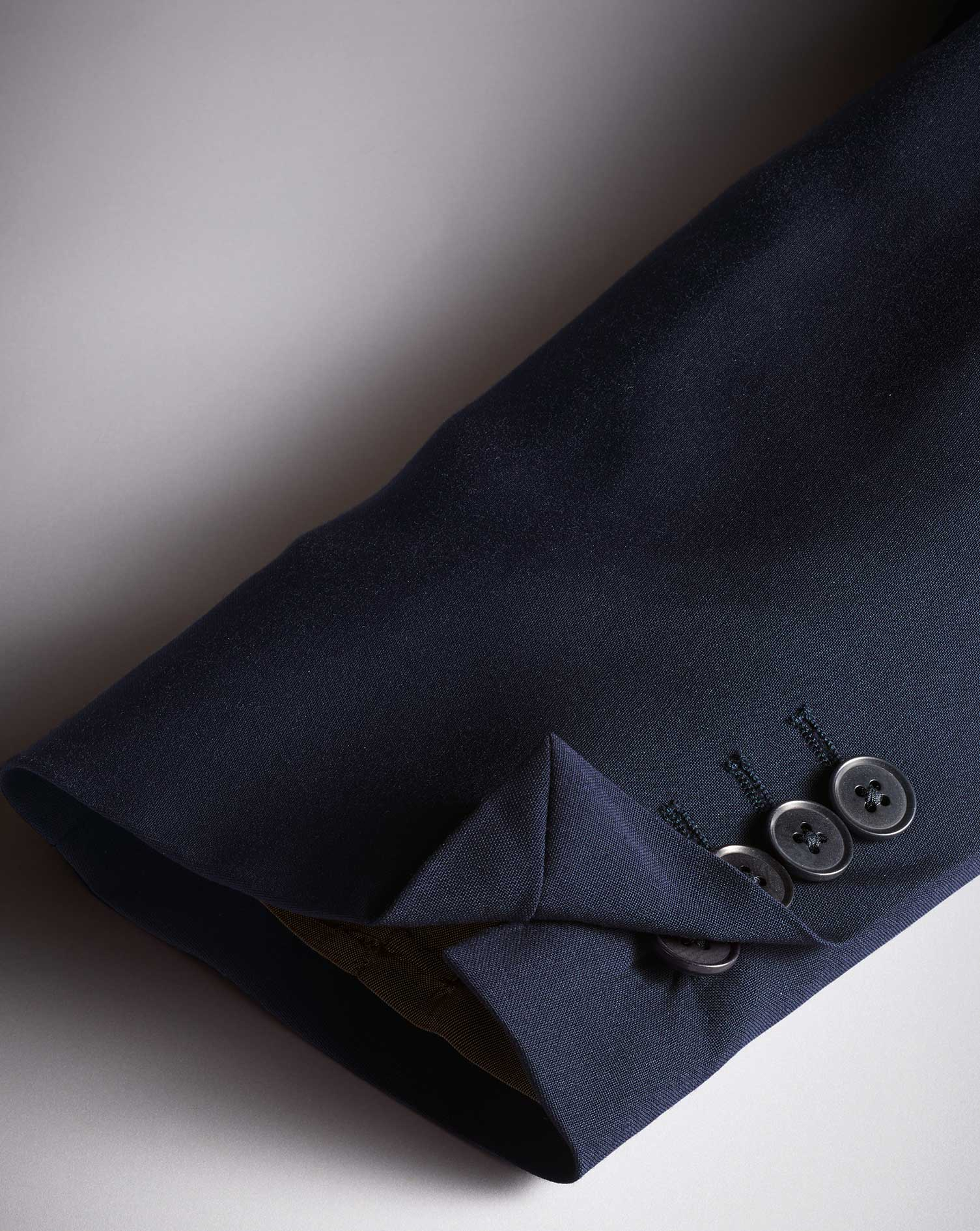 Navy blue slim fit performance suit jacket