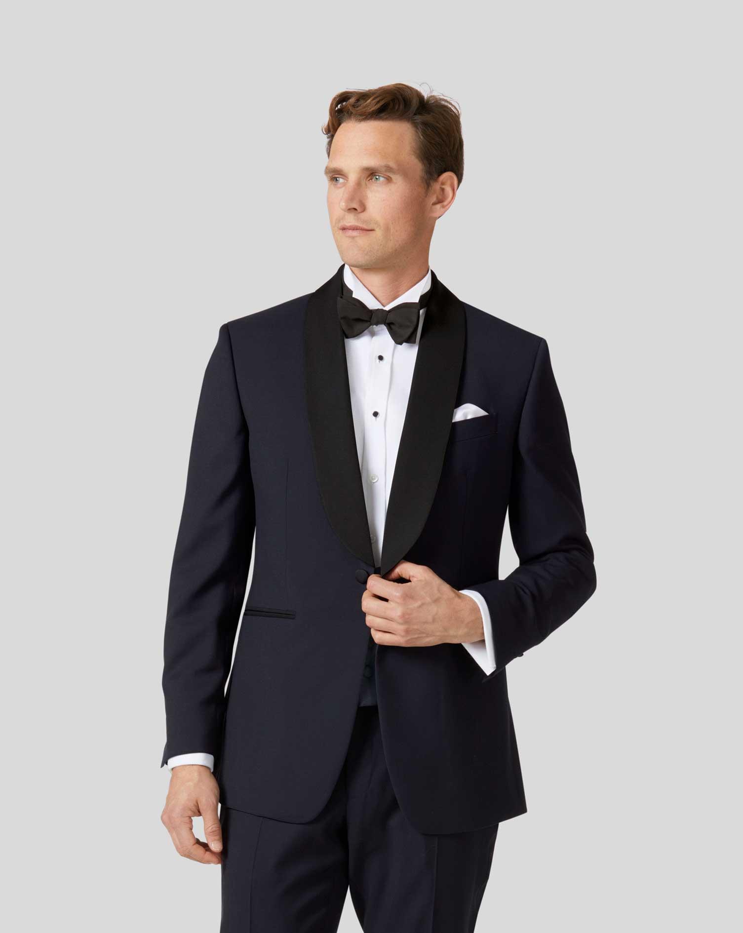 navy slim fit shawl collar tuxedo jacket charles tyrwhitt. Black Bedroom Furniture Sets. Home Design Ideas