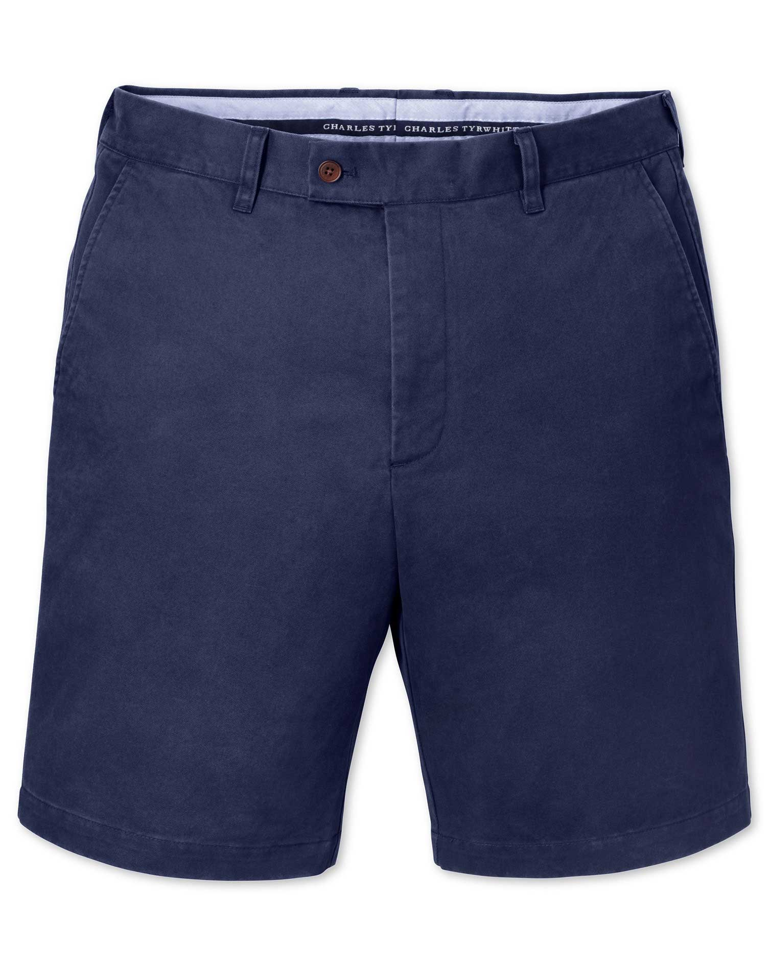 Blue Slim Fit Chino Cotton Shorts Size 38 by Charles Tyrwhitt