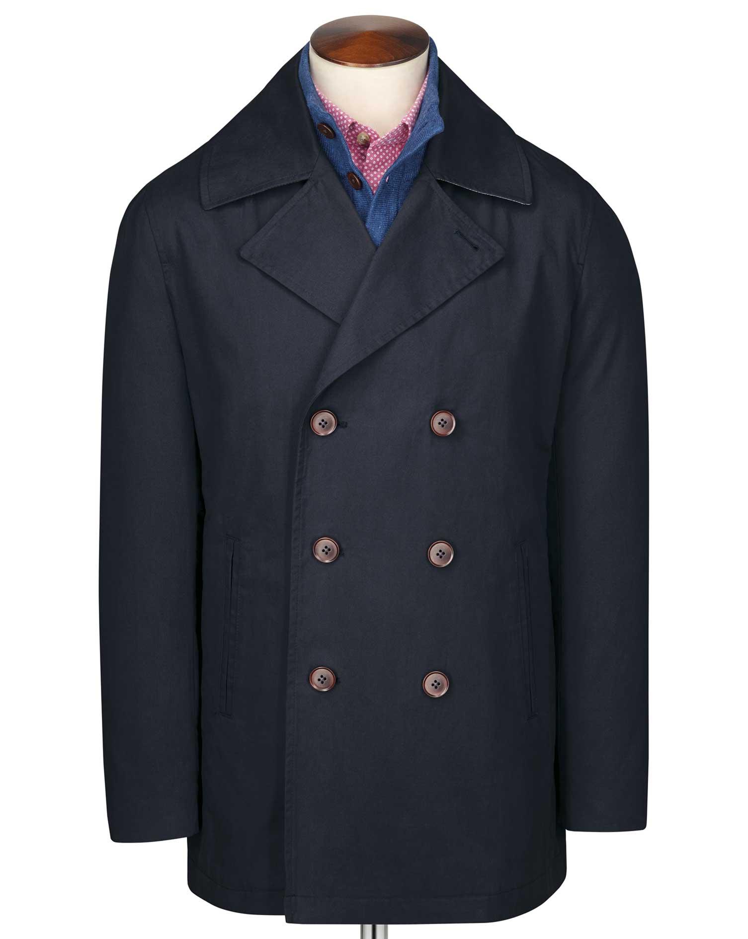 Navy pea coat   Charles Tyrwhitt
