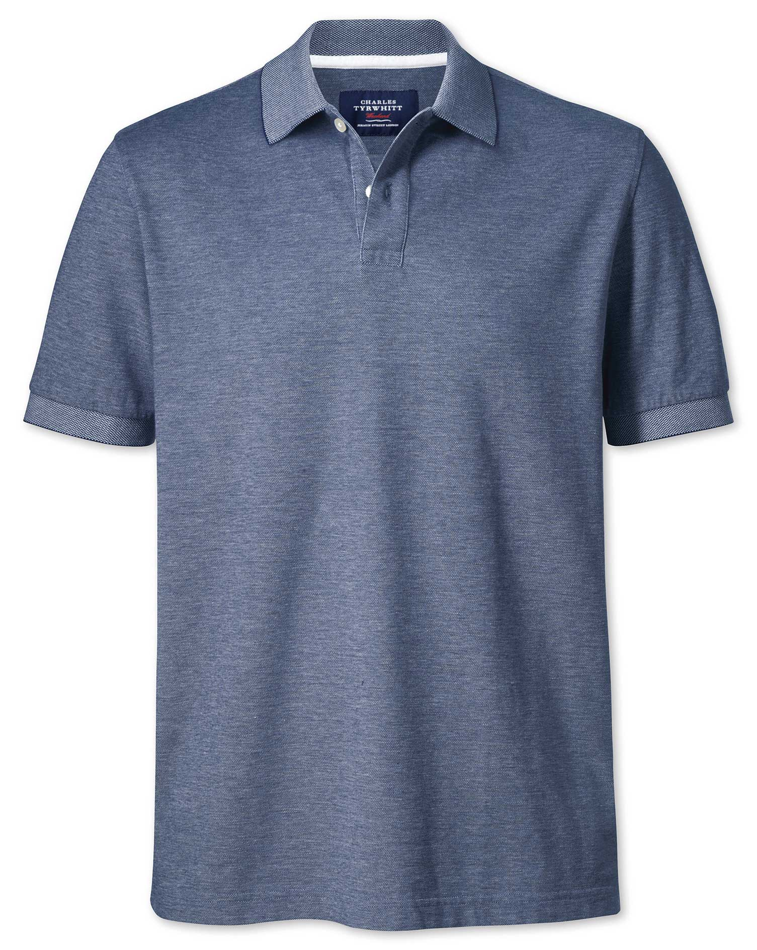 Chambray Oxford Cotton Polo Size Medium by Charles Tyrwhitt