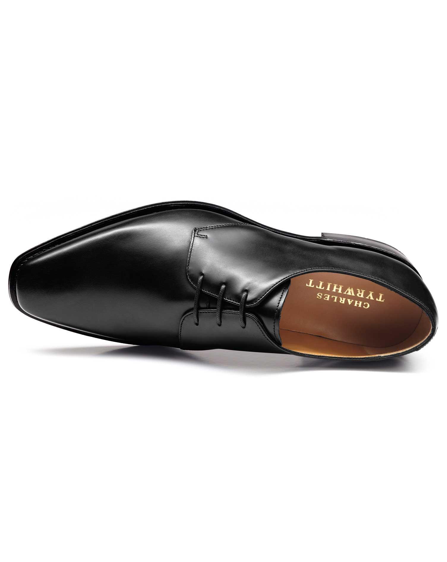 Black Soho Derby Shoes Size 10 R by Charles Tyrwhitt