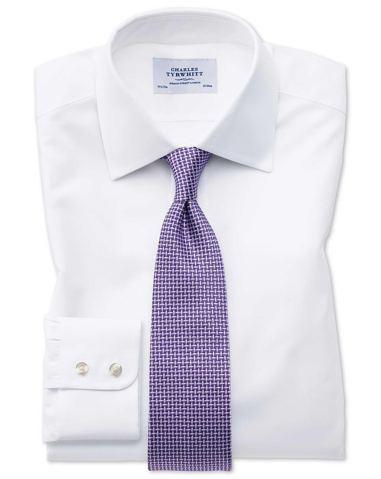 Extra Slim Fit Oxford White Shirt Charles Tyrwhitt