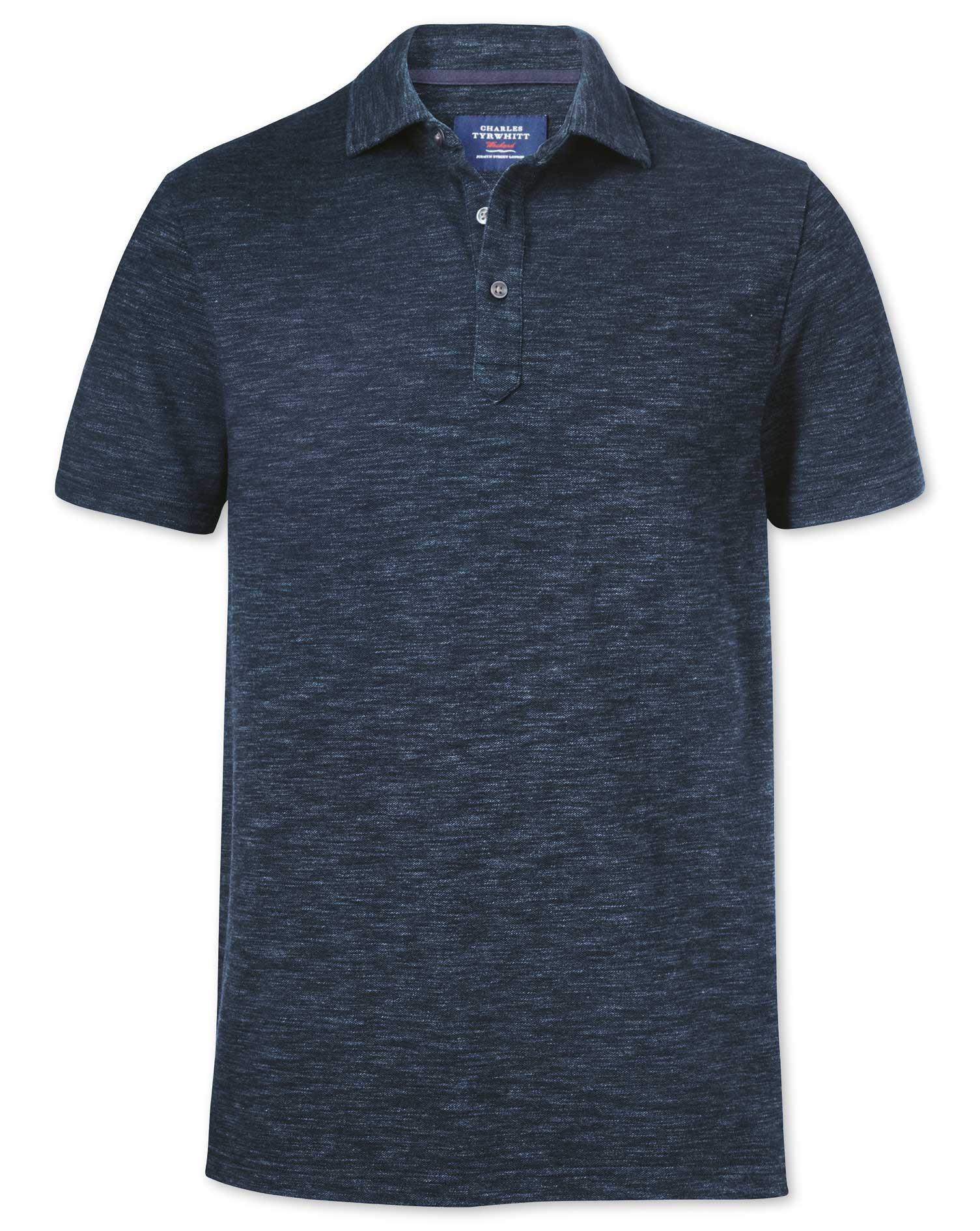 Denim Blue Cotton Polo Size XL by Charles Tyrwhitt