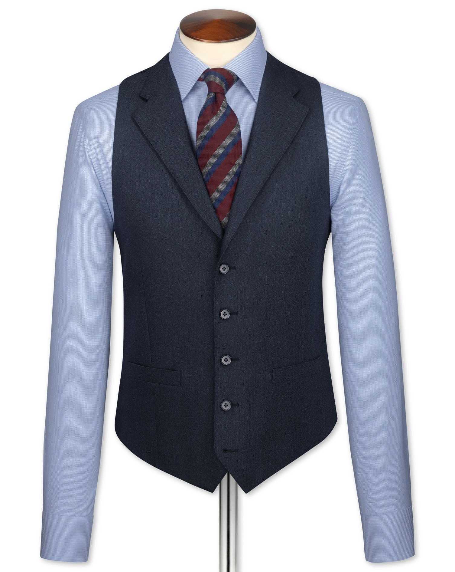 Indigo Saxony Business Suit Wool Waistcoat Size w42 by Charles Tyrwhitt