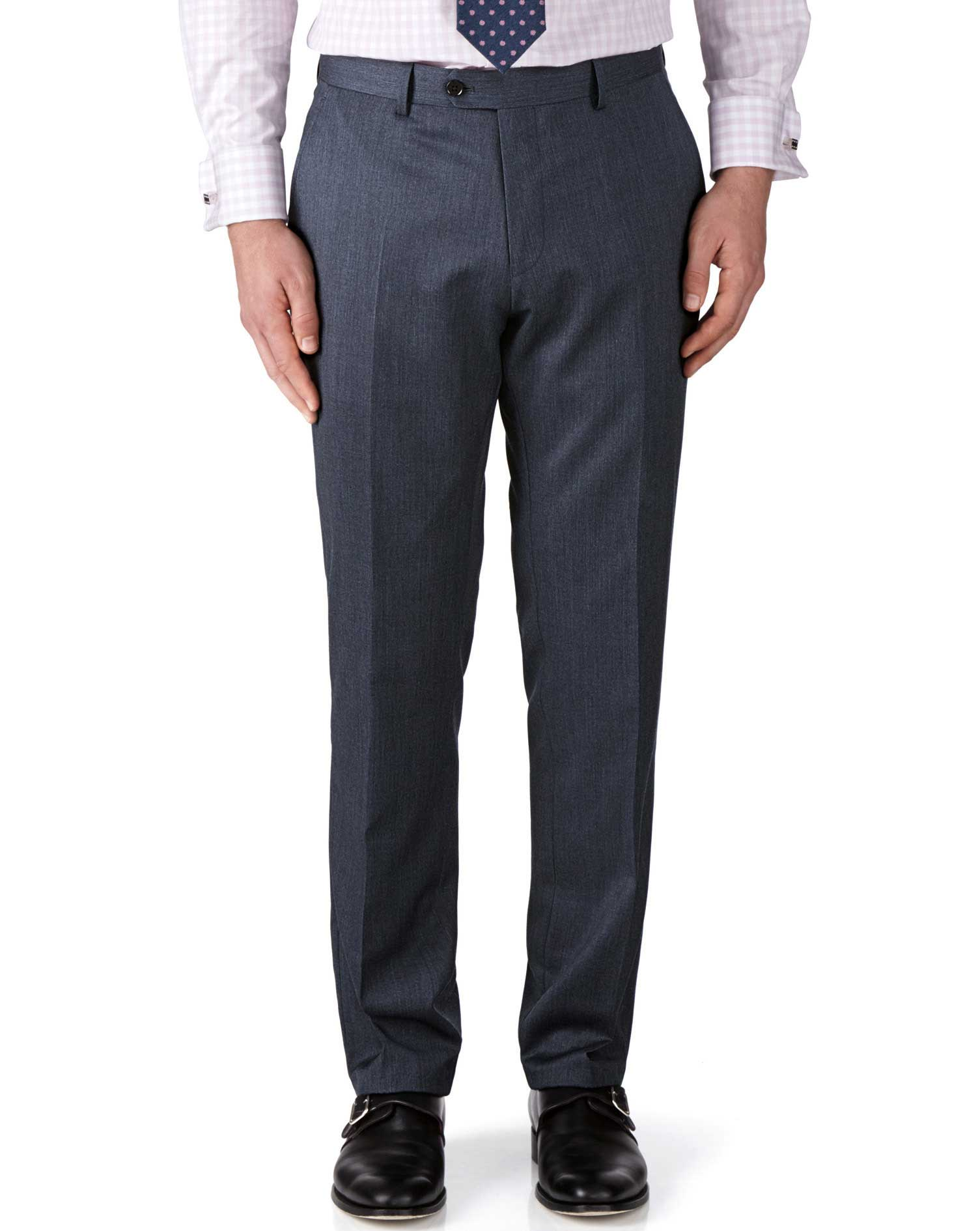 Airforce Blue Classic Fit Twill Business Suit Trousers Size W36 L38 by Charles Tyrwhitt