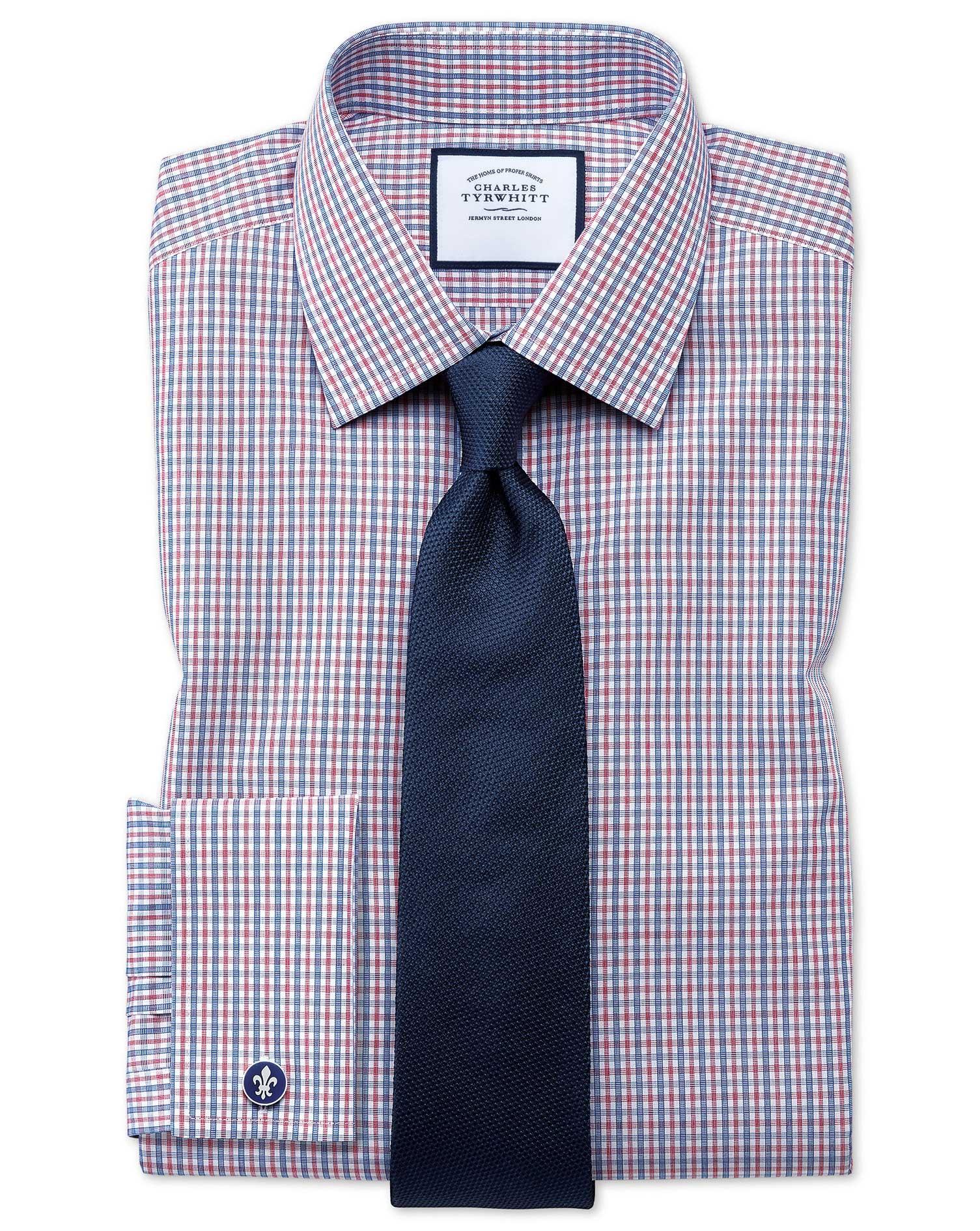 Navy Silk Plain Classic Tie Size OSFA by Charles Tyrwhitt