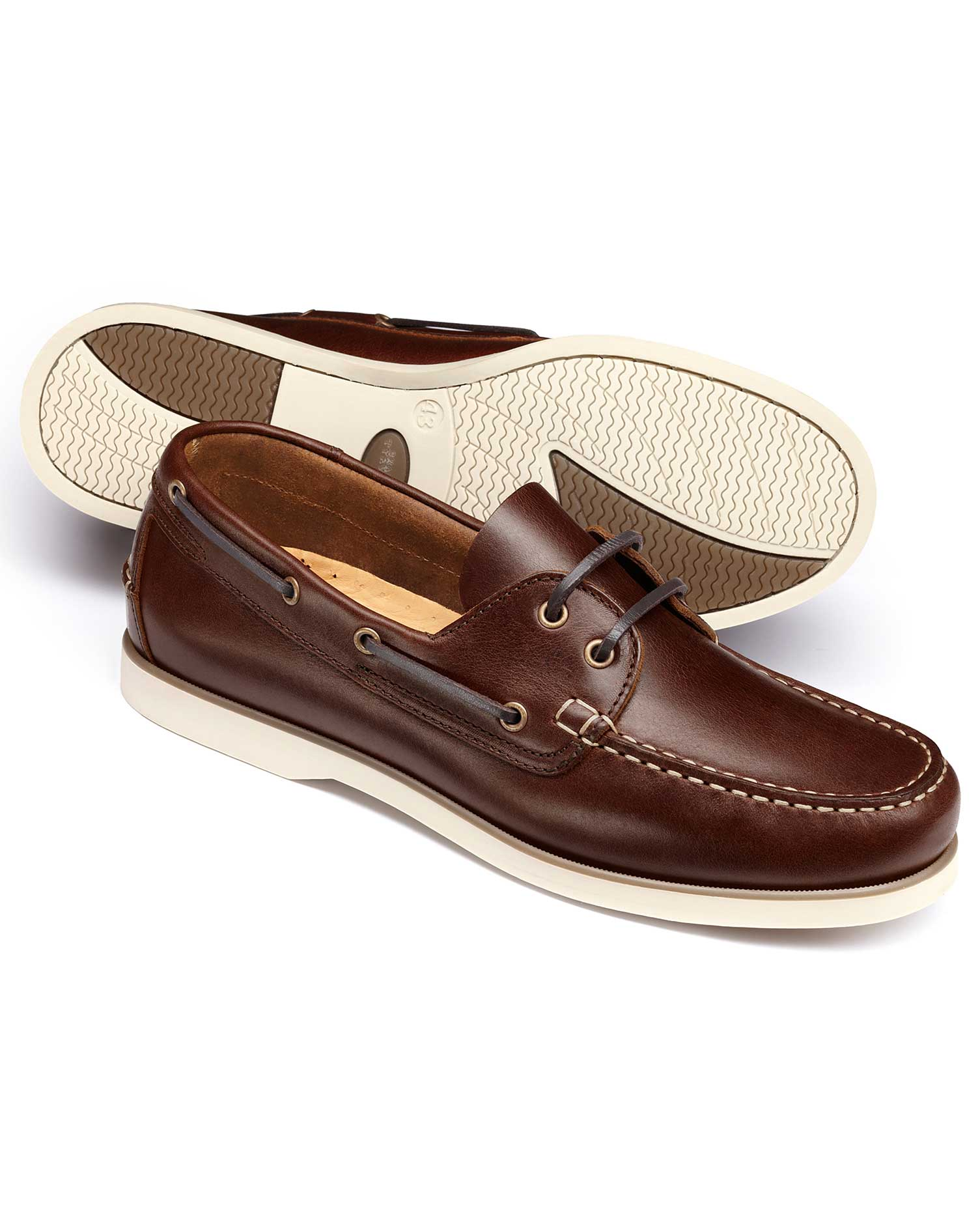 Brown Boat Shoes Size 11 R by Charles Tyrwhitt