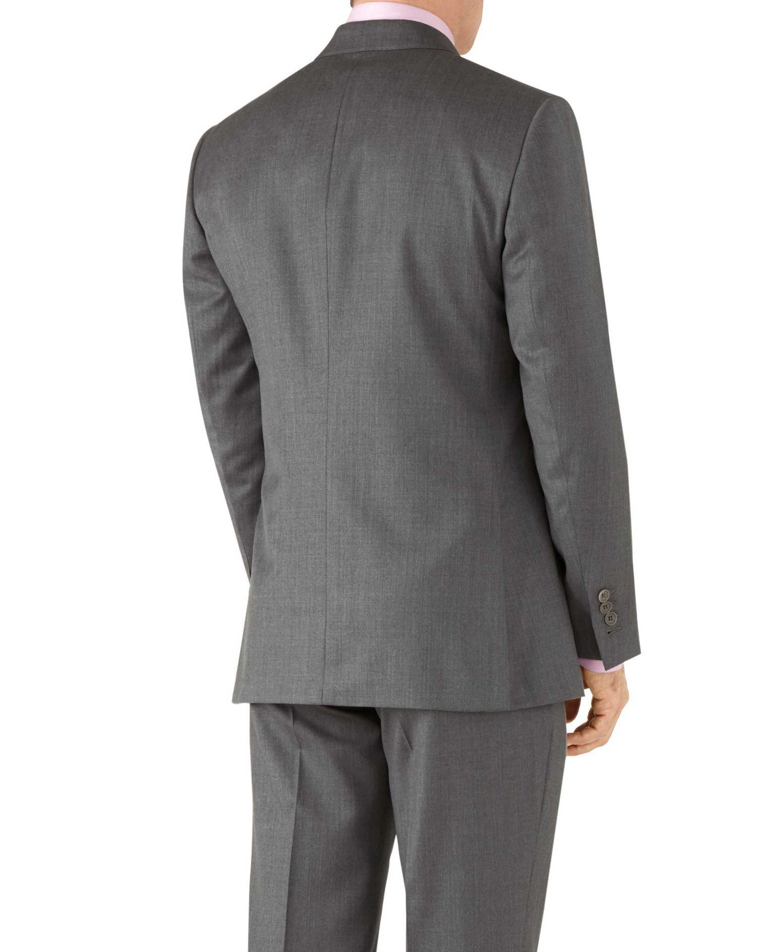 Grey classic fit Italian suit jacket