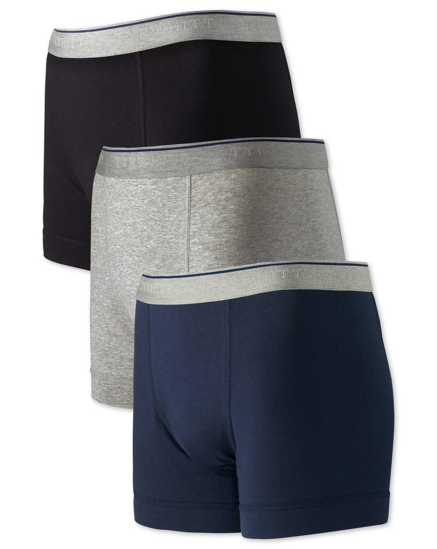 Multi Jersey 3 Pack Trunks Size XXL by Charles Tyrwhitt