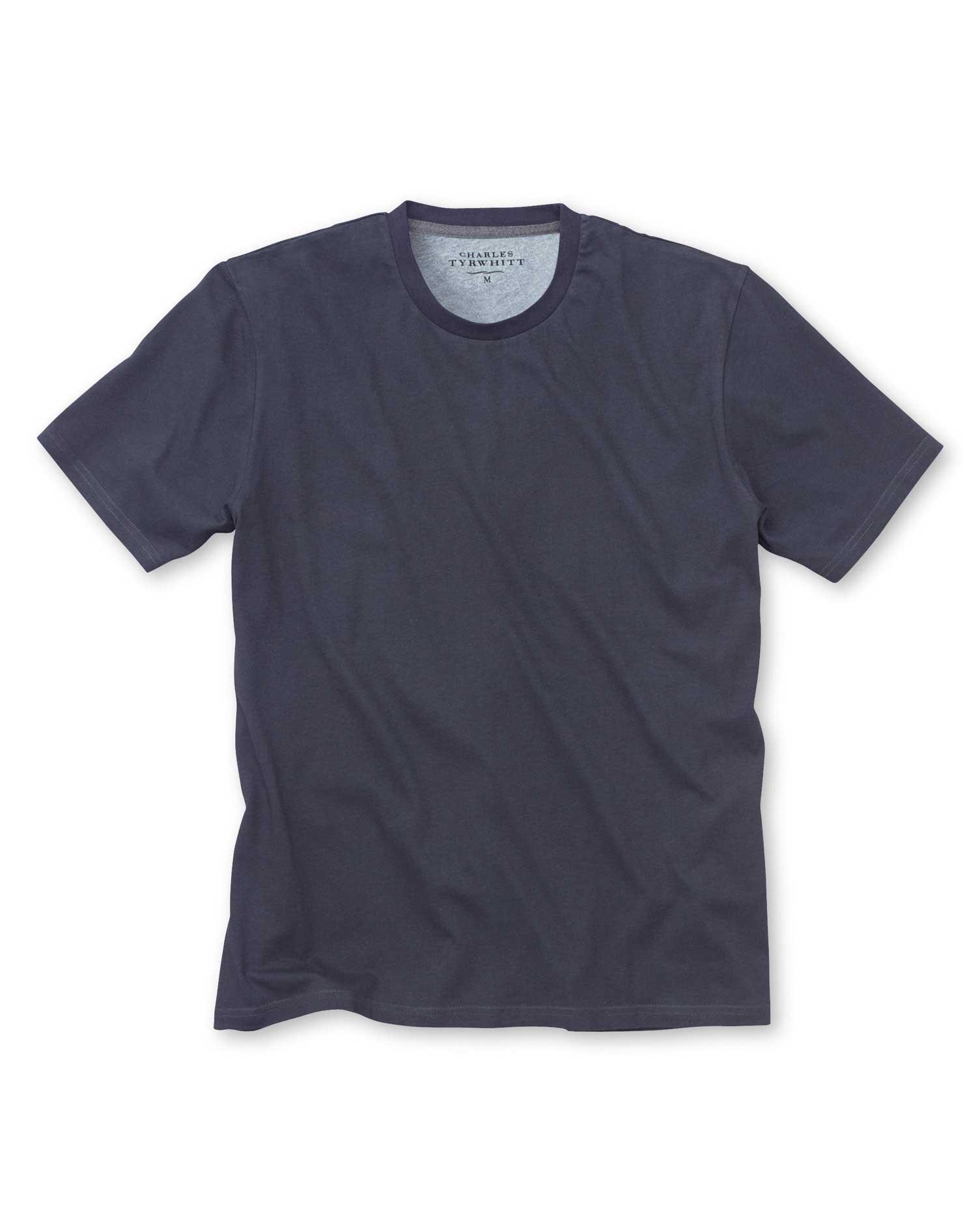 Navy Cotton T-Shirt Size XS by Charles Tyrwhitt