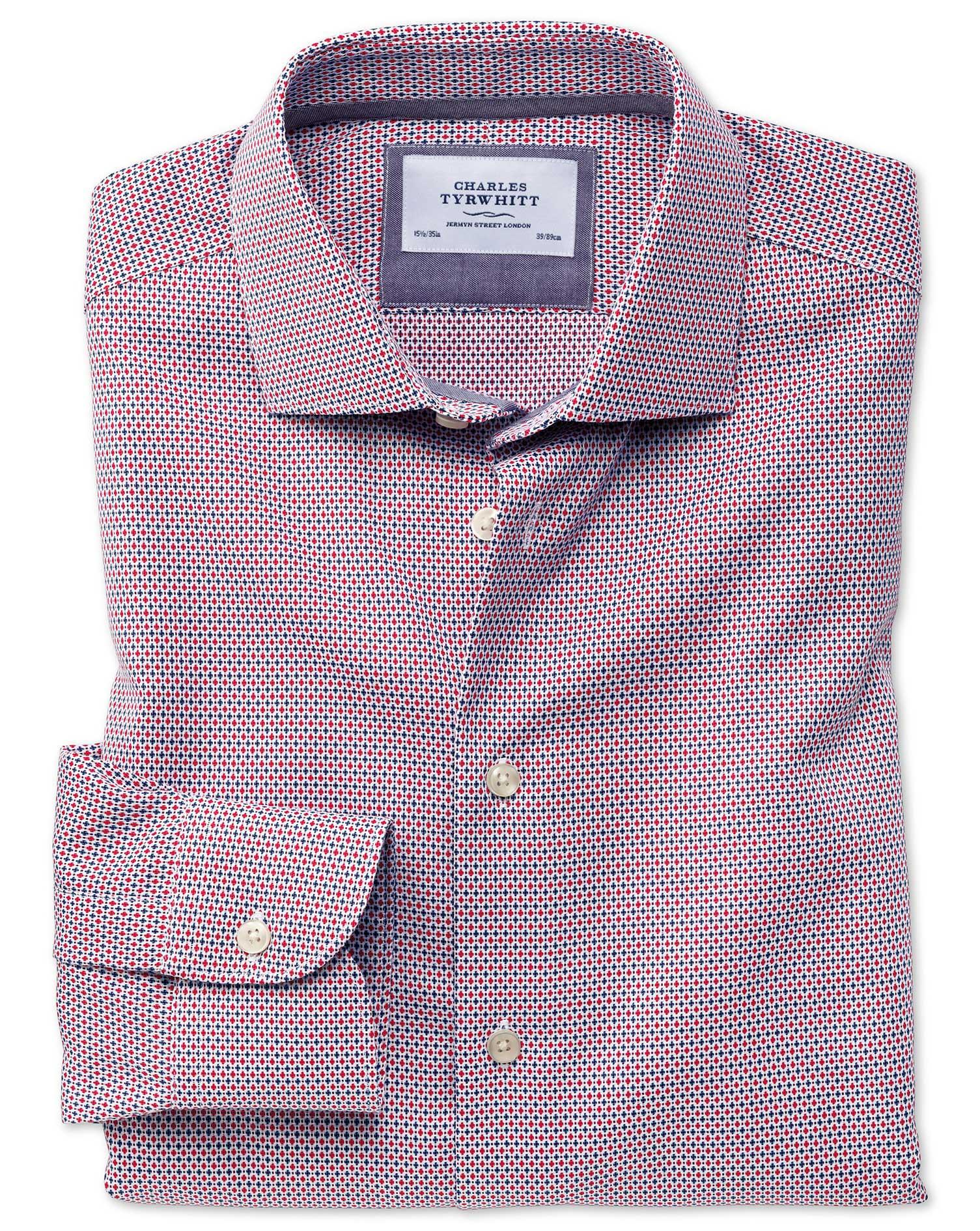 Slim fit semi spread collar business casual non iron for Semi spread collar shirt