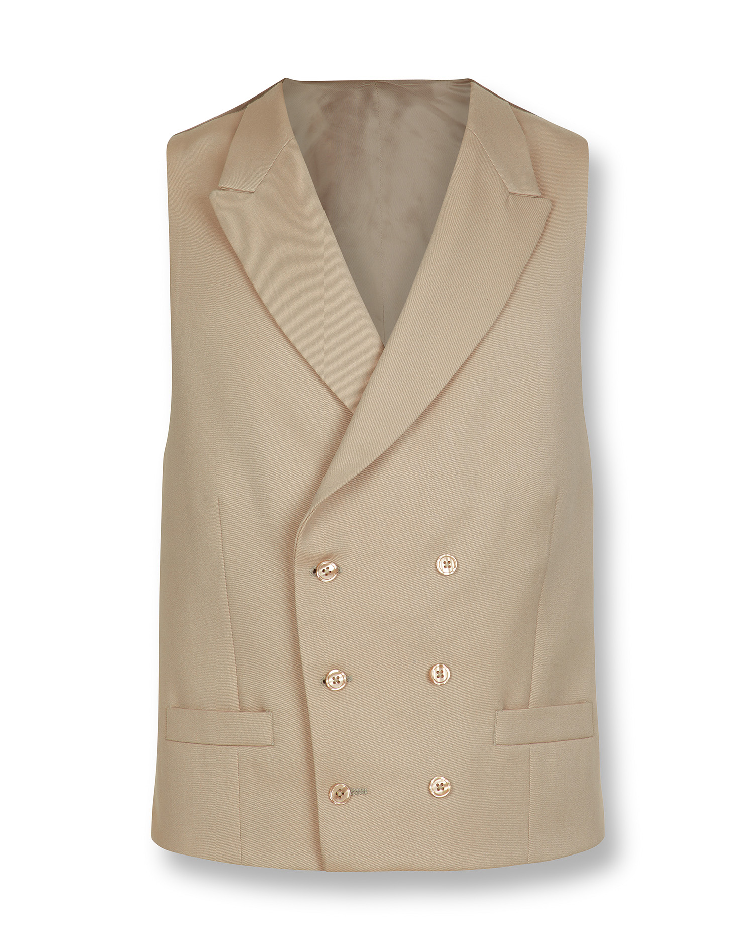 Natural adjustable fit morning suit waistcoat | Charles Tyrwhitt
