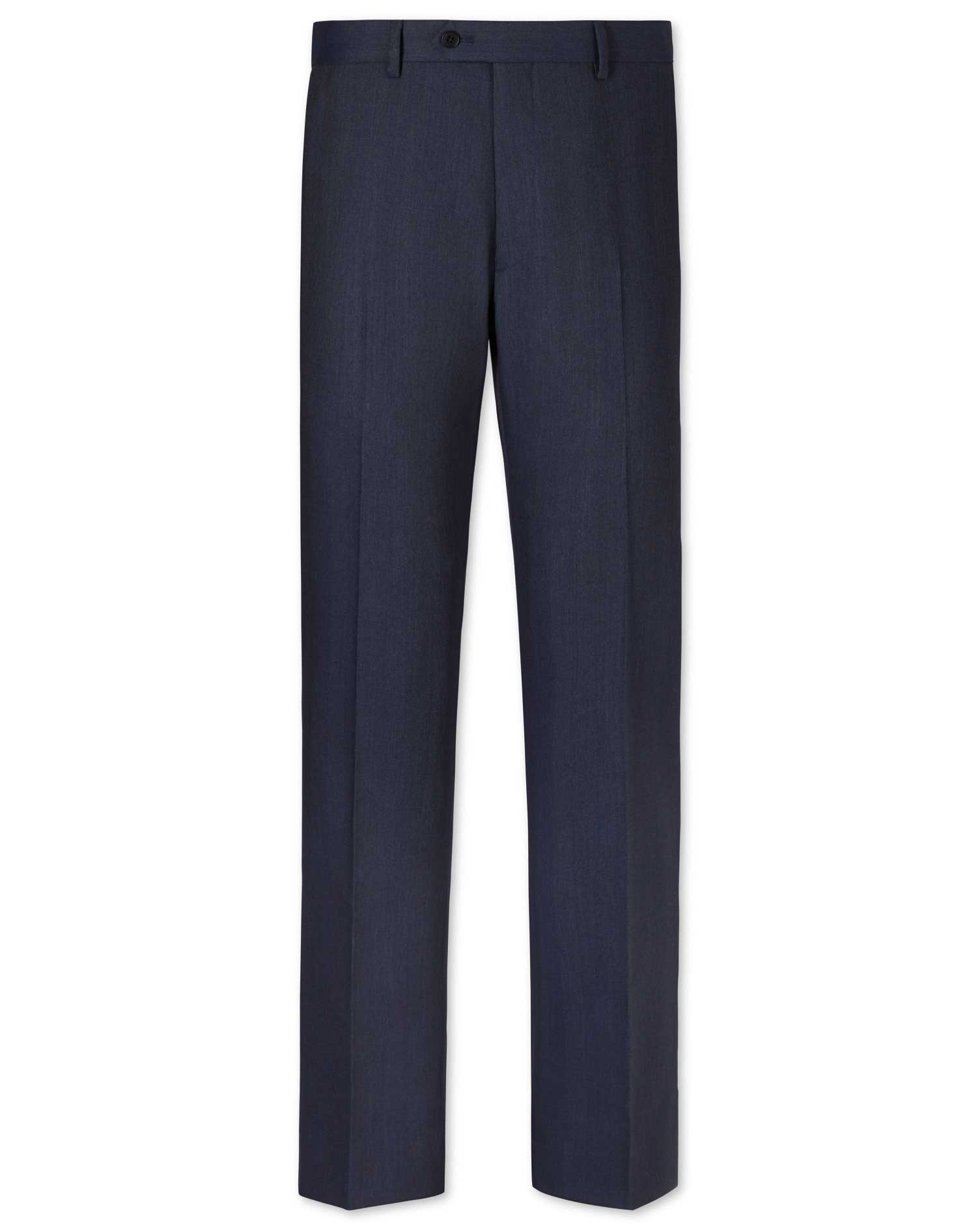 Airforce Blue Slim Fit Herringbone Business Suit Trousers Size W40 L38 by Charles Tyrwhitt