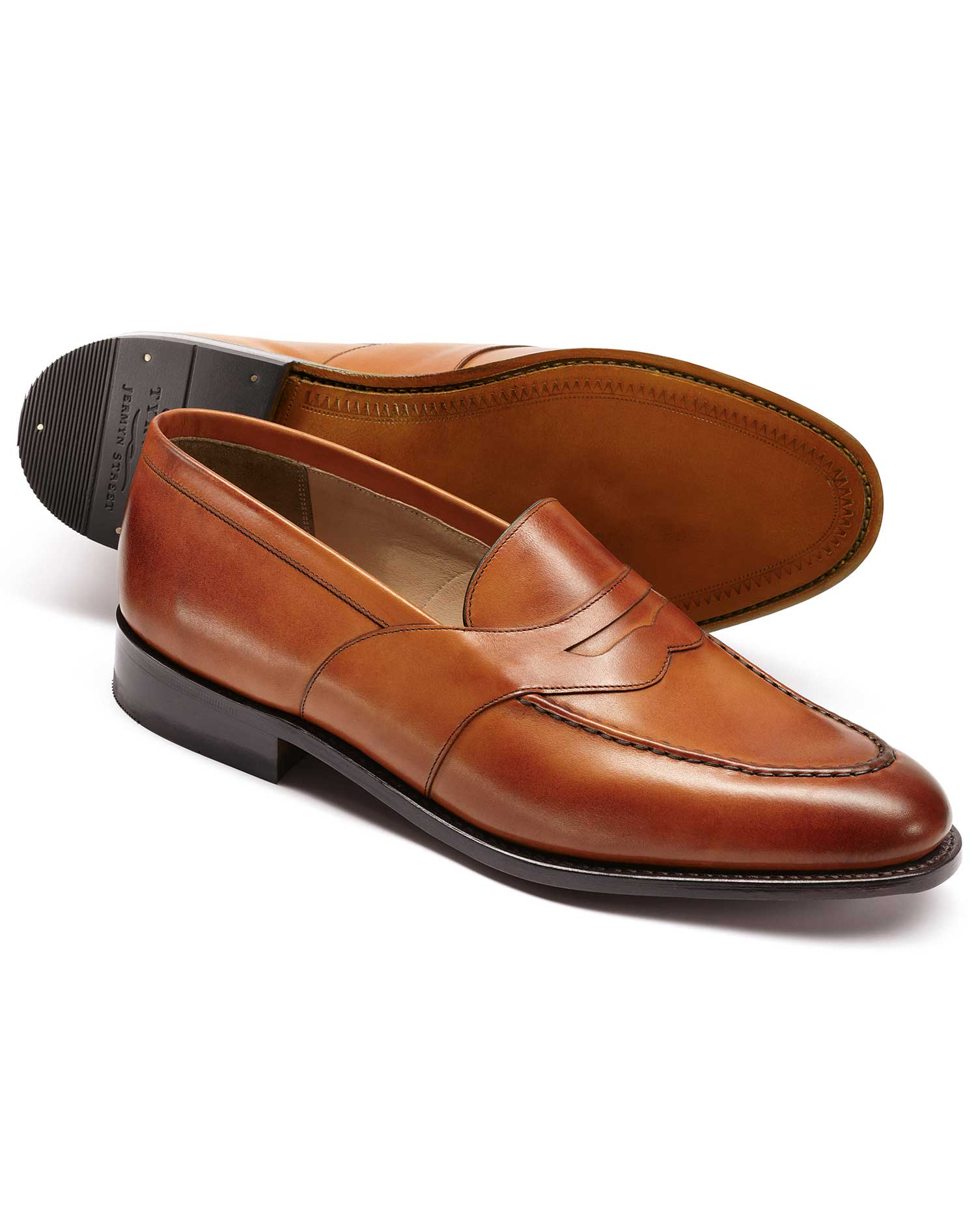 Tan Allet Loafers Size 11 R by Charles Tyrwhitt