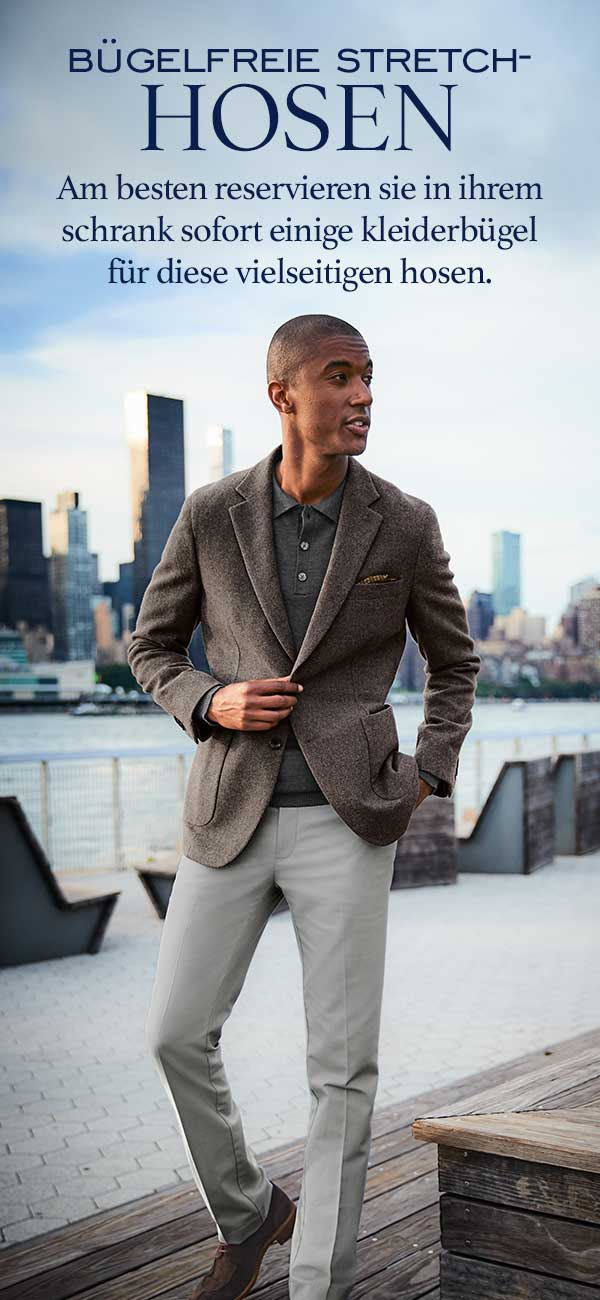 Non iron stretch trousers - smart tailoring but of so comfortable