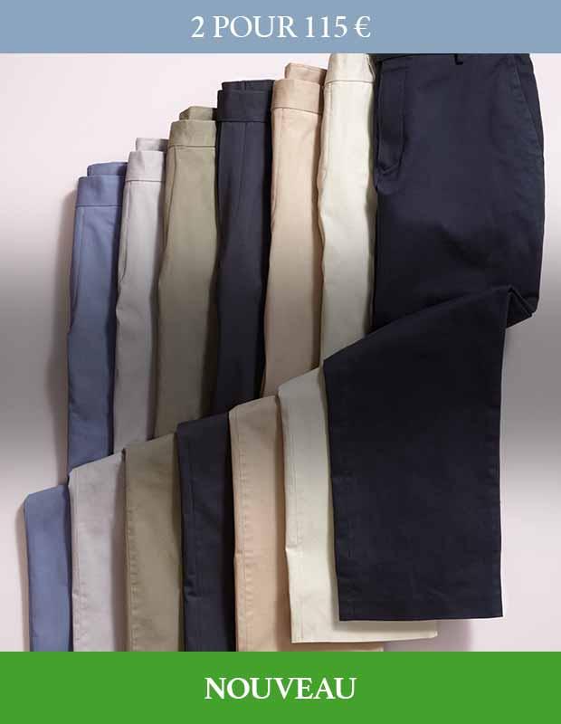 Pantalons chino stretch