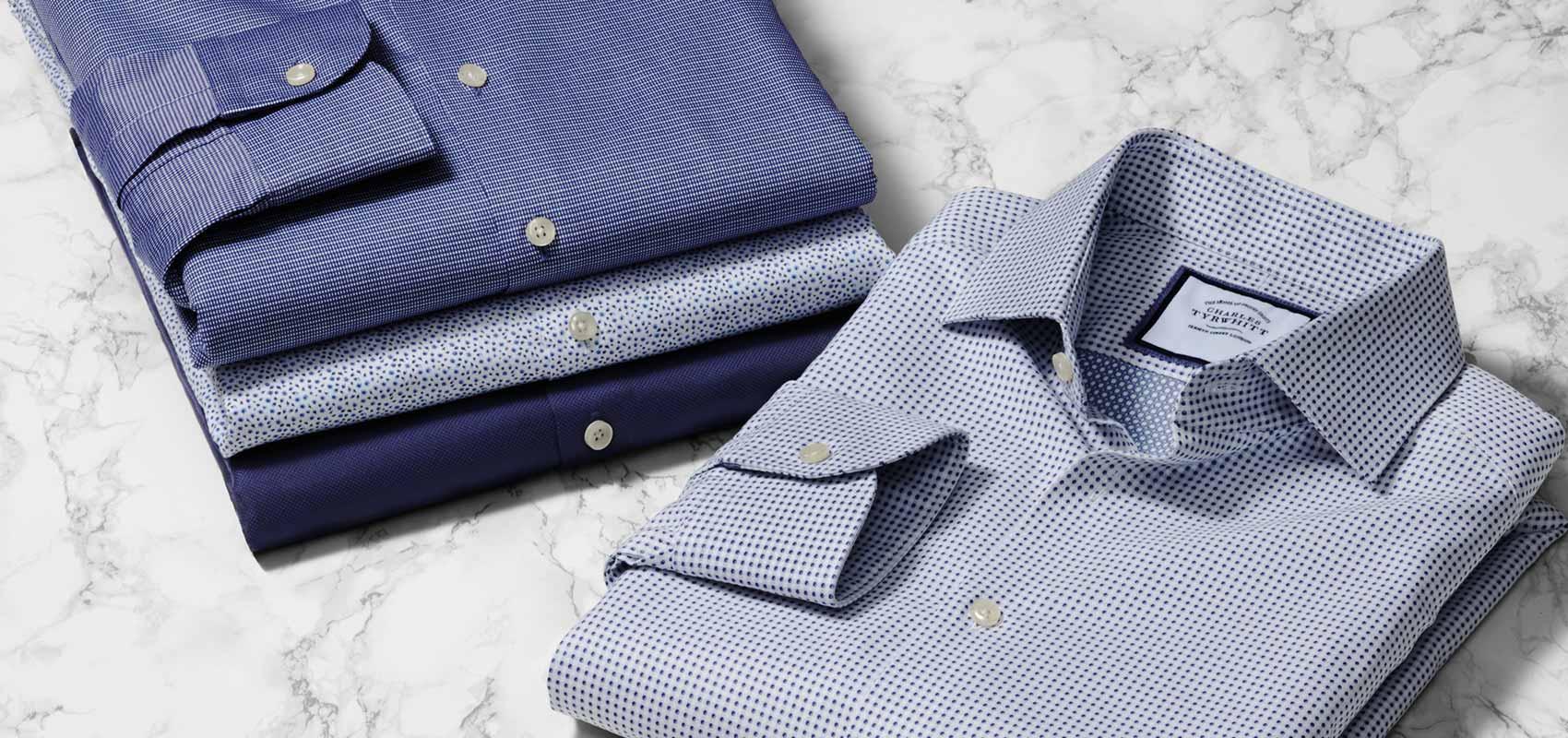 Charles Tyrwhitt Collection chemises bleues