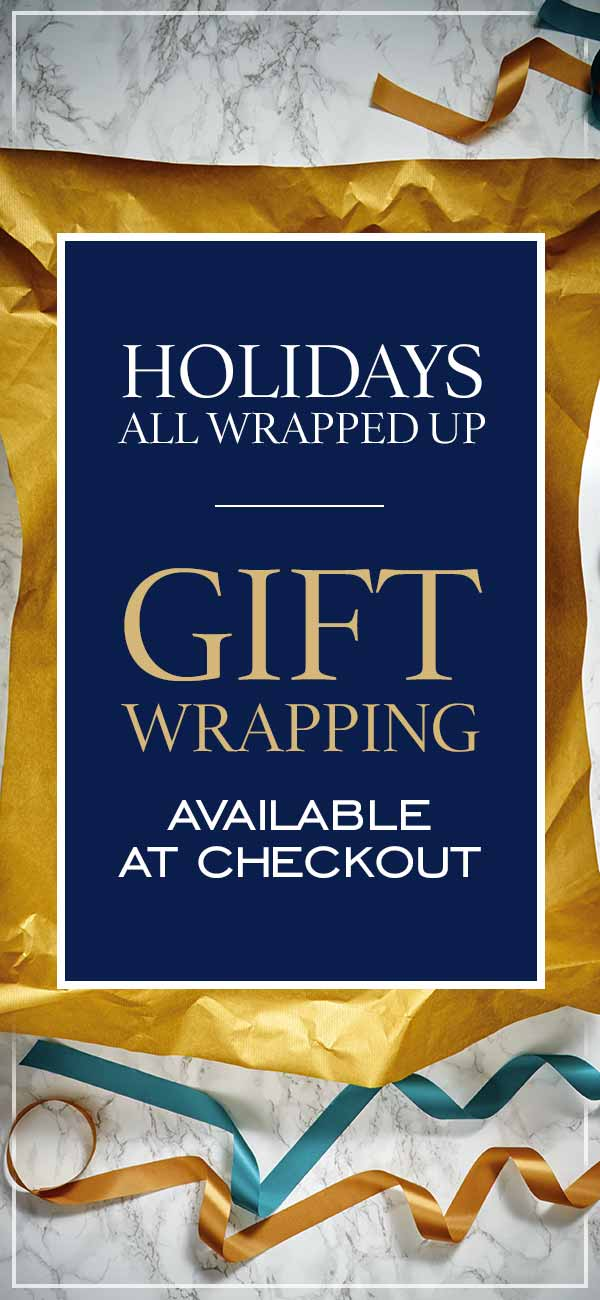 Gift wrapping available at checkout