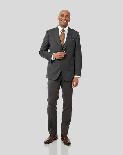 Stripe Birdseye Travel Suit - Grey