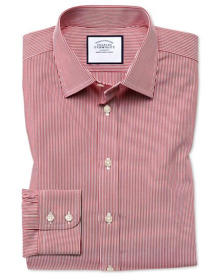 Classic fit non-iron Bengal stripe red shirt