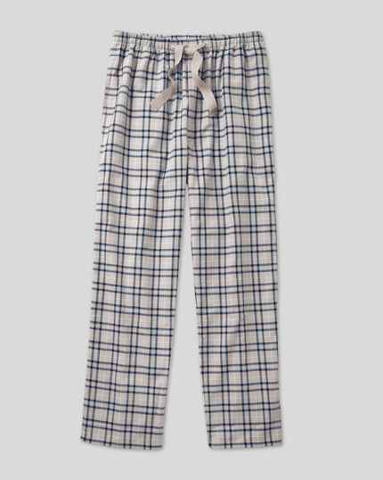 Check Pyjama Bottoms - Grey & Navy