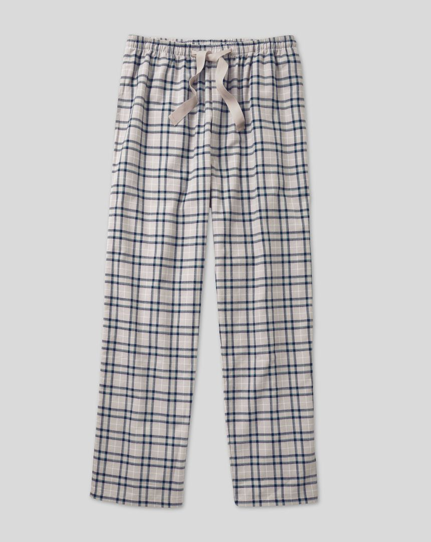 Schlafanzughose mit Karos - Grau & Marineblau