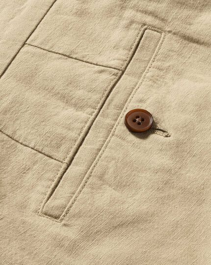 Stone classic fit cotton linen pants