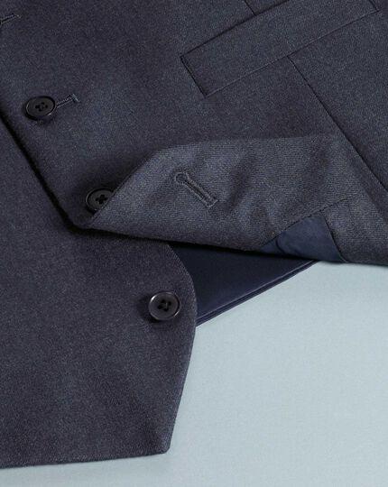 Airforce blue adjustable fit flannel business suit waistcoat