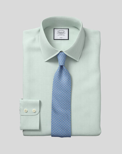 Classic Collar Non-Iron Micro Diamond Shirt - Green
