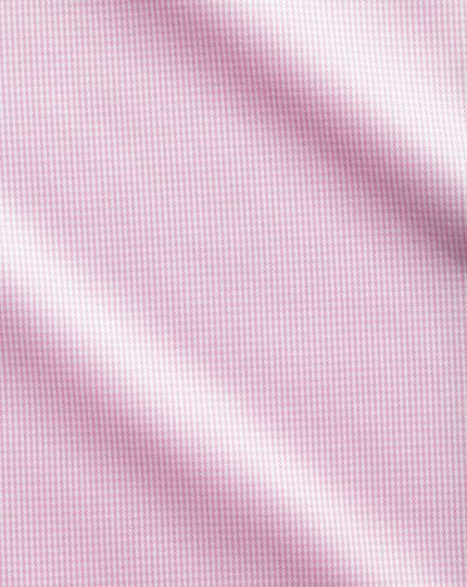 Chemise rose clair en pied-de-poule sans repassage extra slim fit avec col cutaway