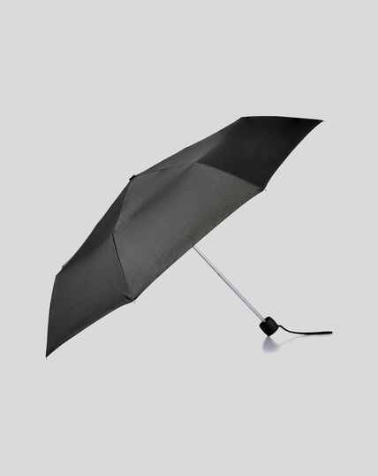 Compact Wind Resistant Umbrella - Black