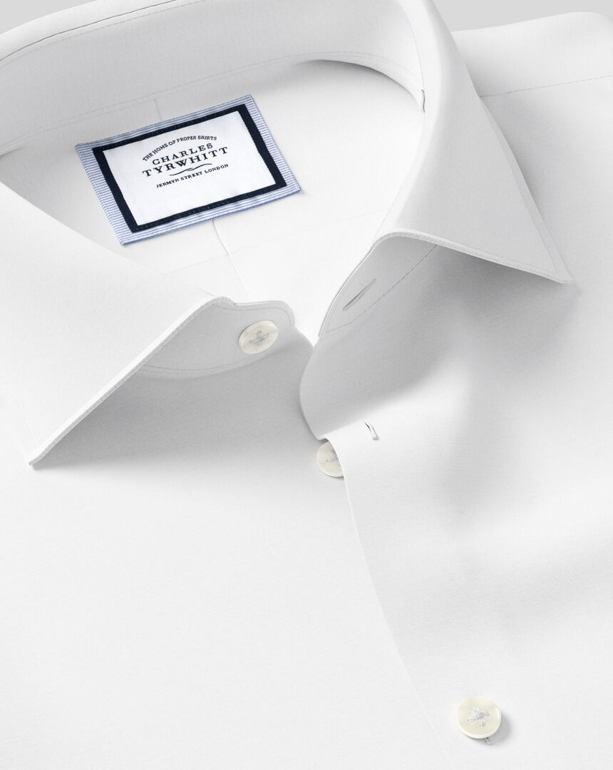 Business Casual Collar Softly Smart Shirt - White