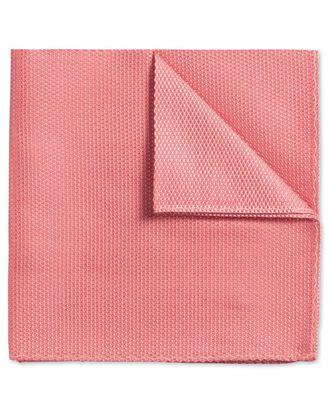 Coral plain classic pocket square