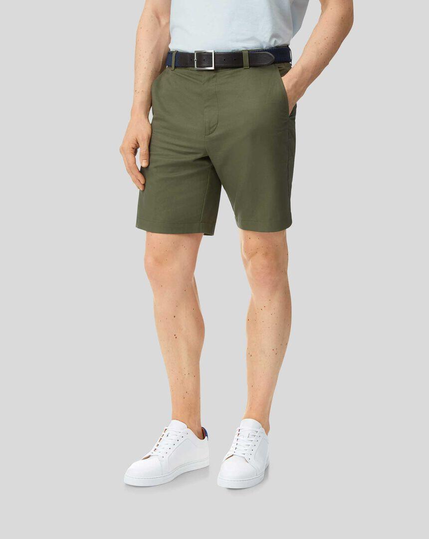 Linen Cotton Shorts - Olive