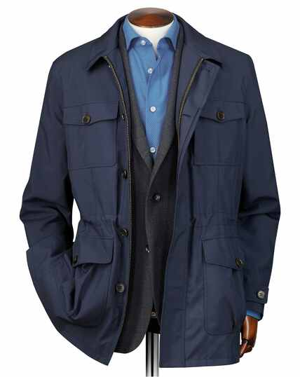 Navy showerproof field jacket