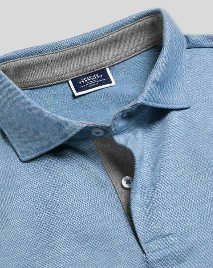 Cotton Hemp Polo - Sky